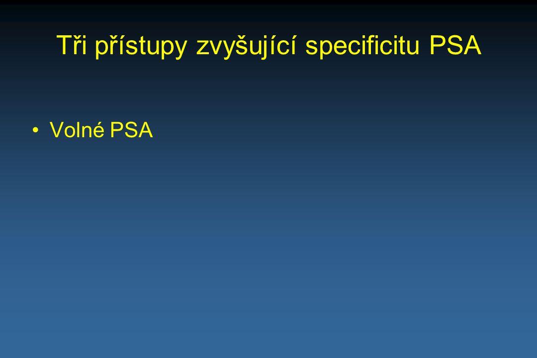 Tři přístupy zvyšující specificitu PSA