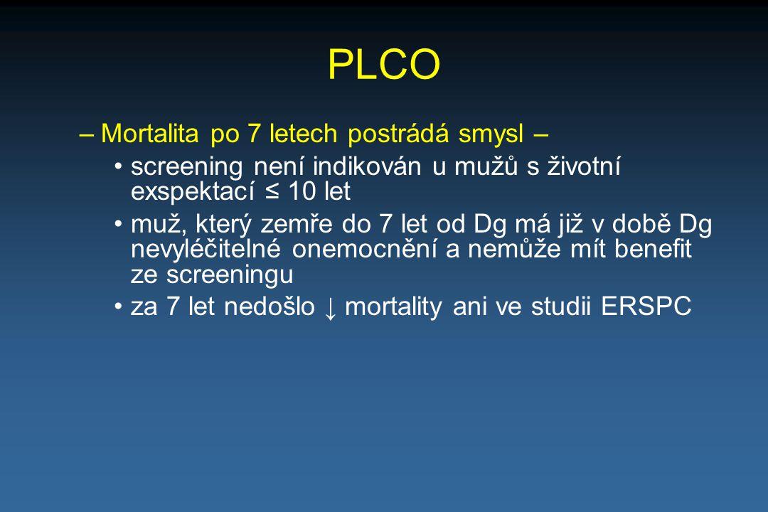 PLCO Mortalita po 7 letech postrádá smysl –