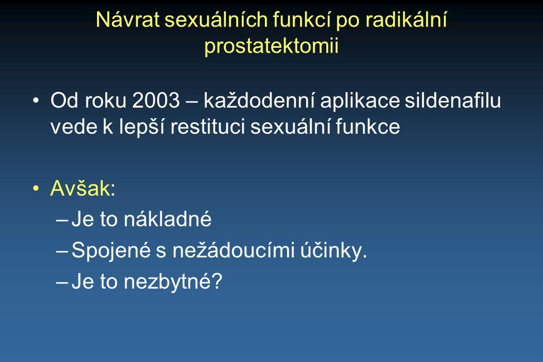 Návrat sexuálních funkcí po radikální prostatektomii