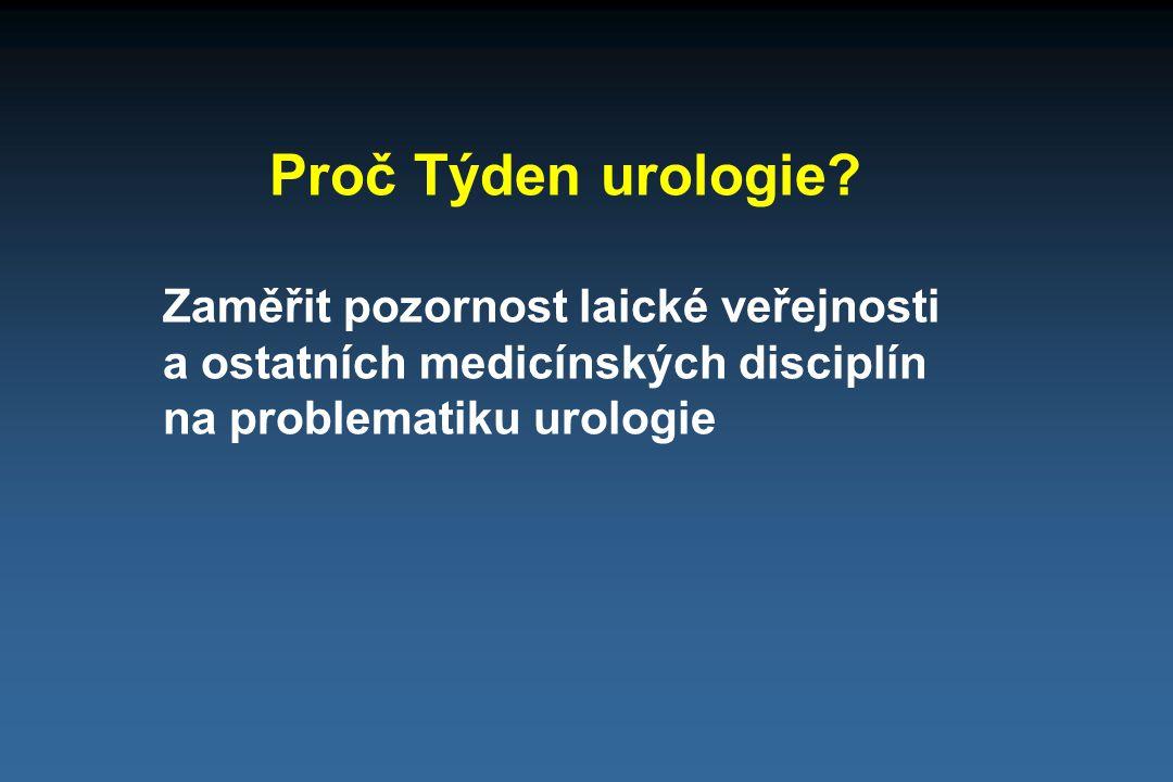 Proč Týden urologie.