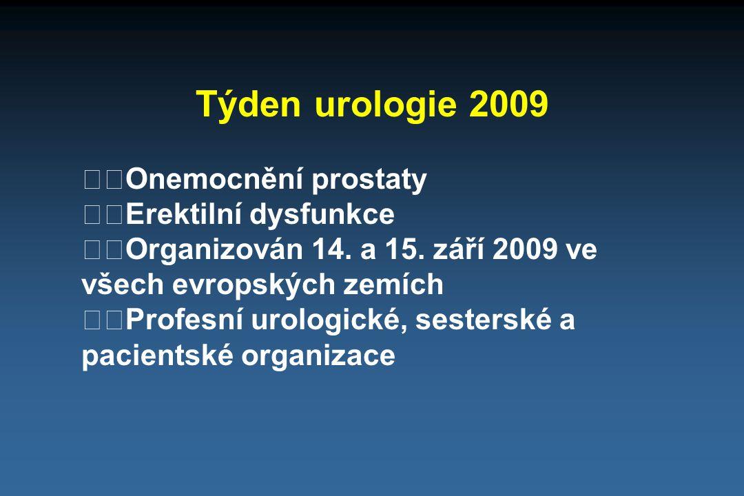 Týden urologie 2009 Onemocnění prostaty Erektilní dysfunkce