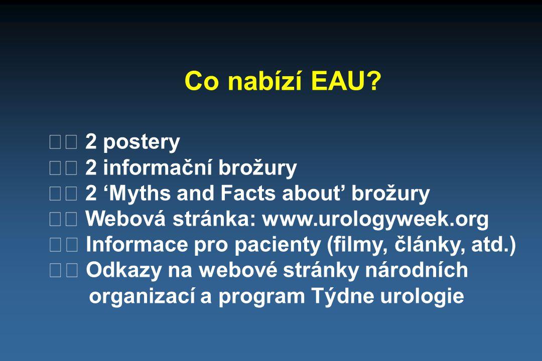 Co nabízí EAU  2 postery  2 informační brožury