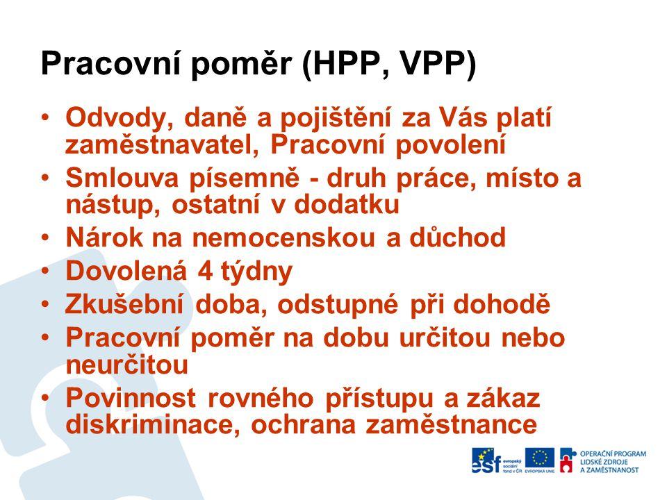 Pracovní poměr (HPP, VPP)