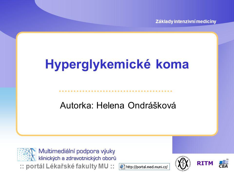 Autorka: Helena Ondrášková