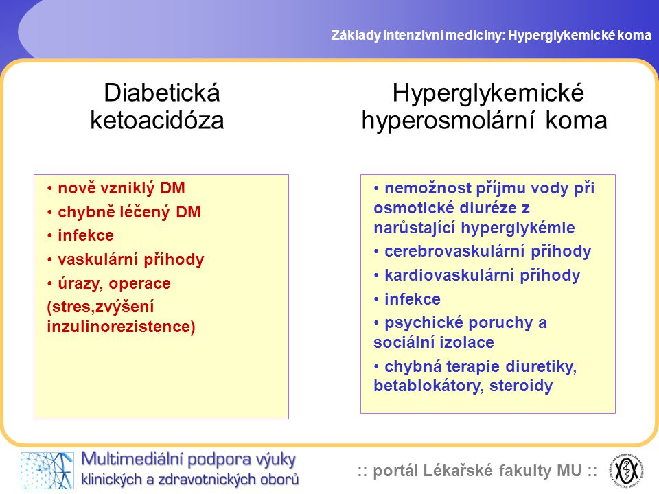 Hyperglykemické hyperosmolární koma