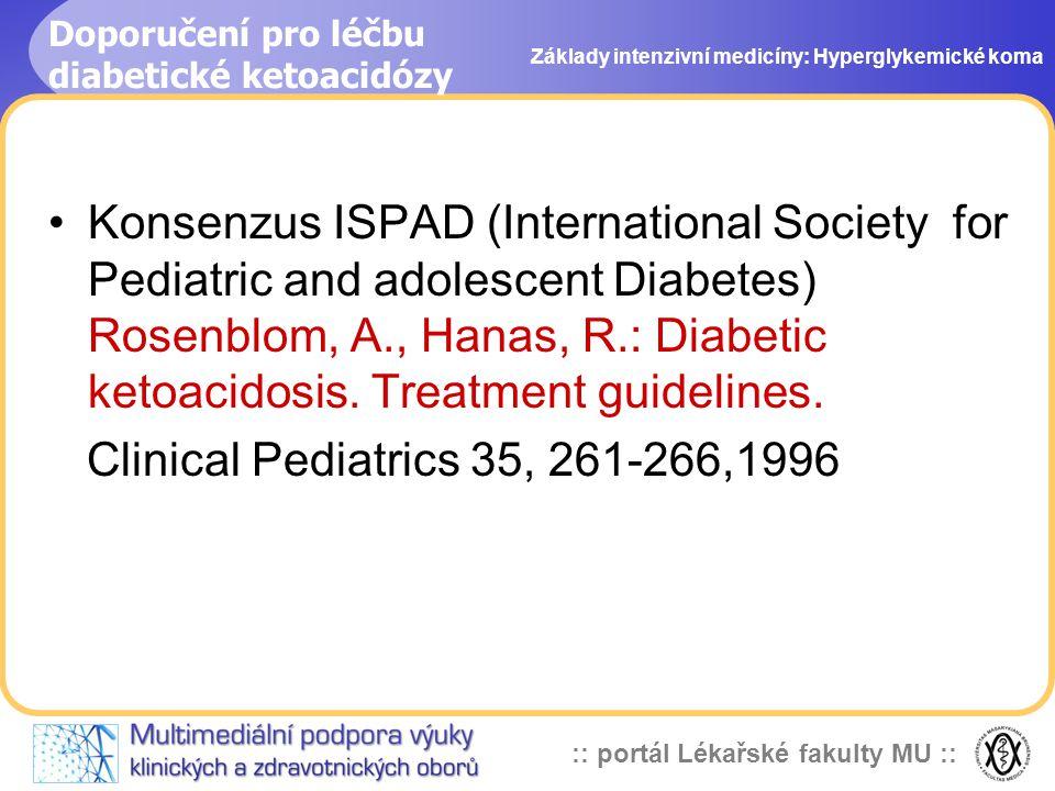 Doporučení pro léčbu diabetické ketoacidózy