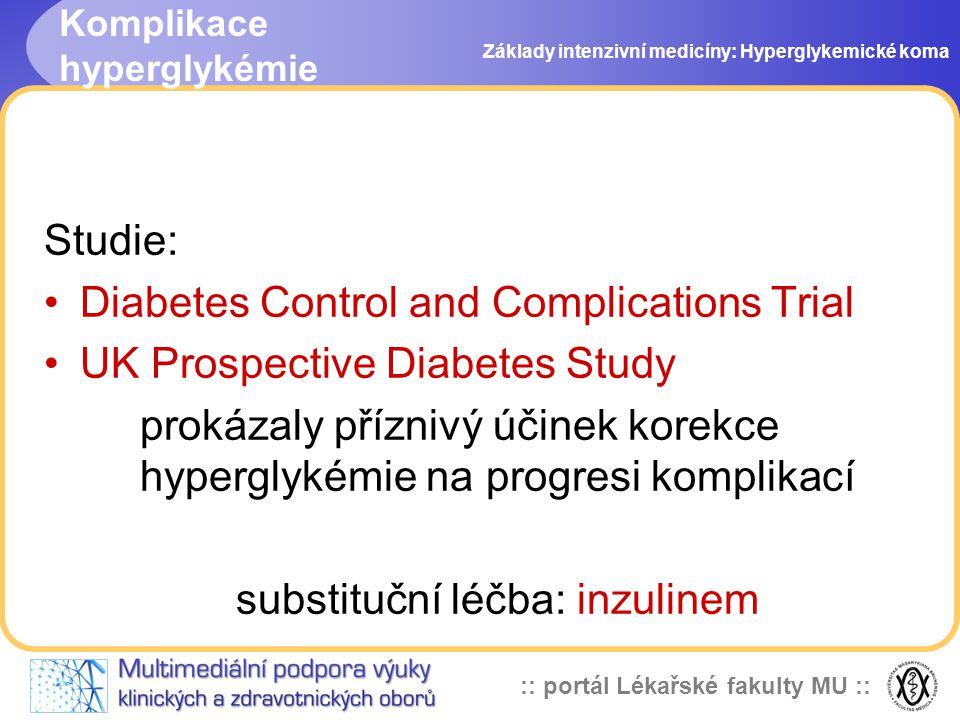 Komplikace hyperglykémie