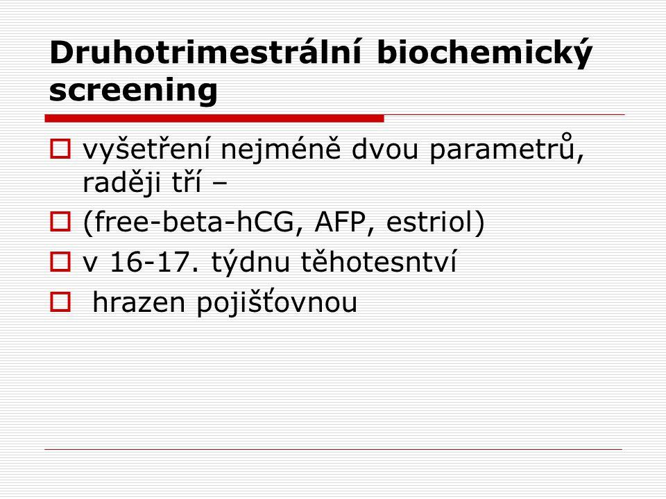 Druhotrimestrální biochemický screening