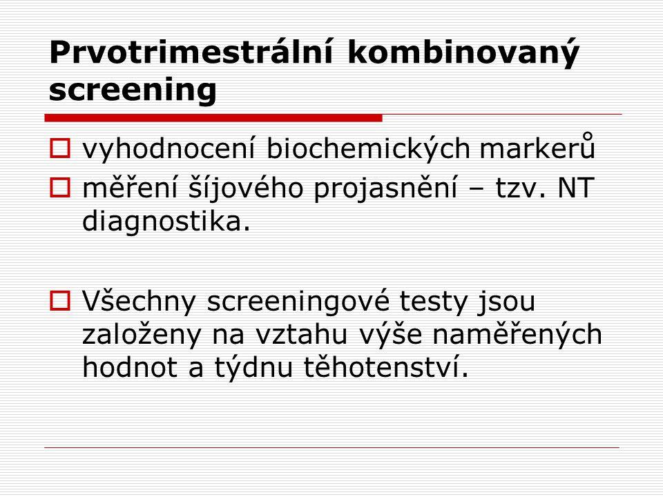 Prvotrimestrální kombinovaný screening