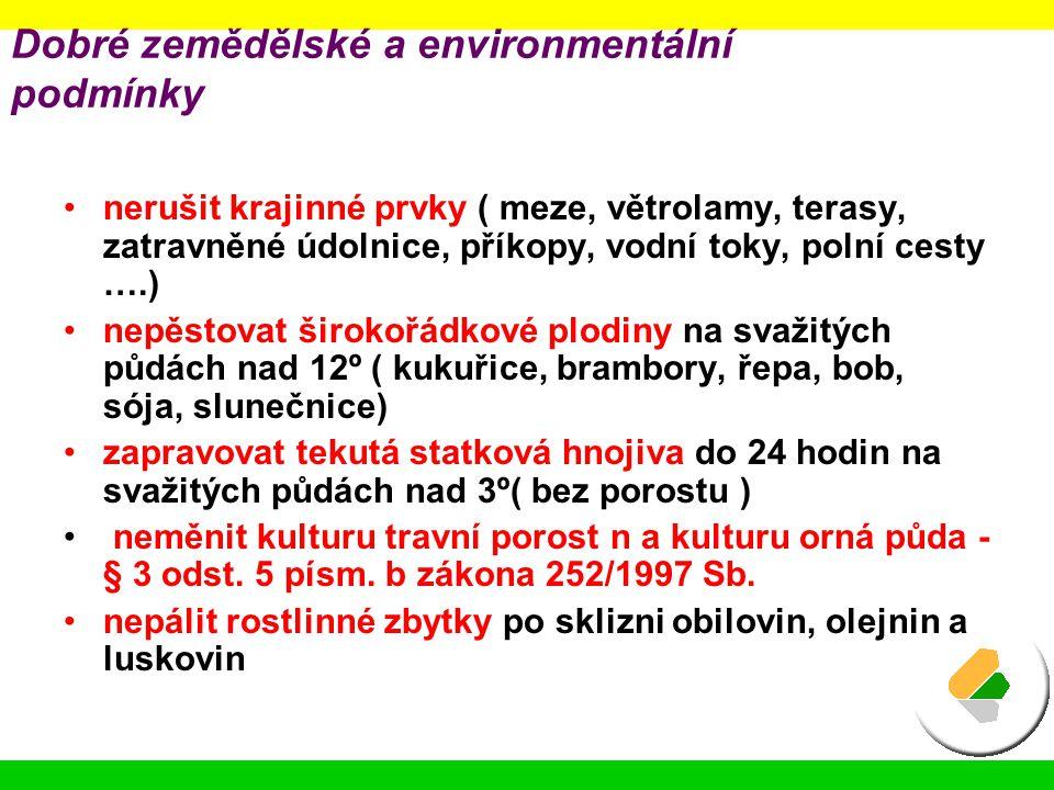 Dobré zemědělské a environmentální podmínky