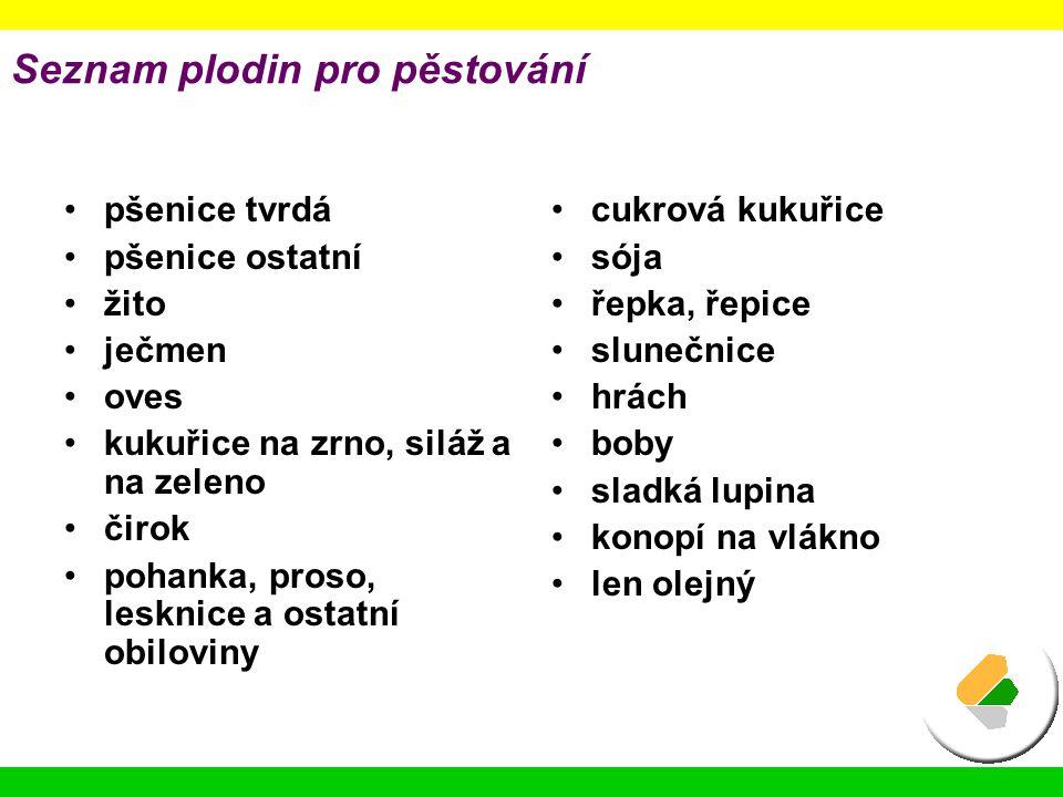 Seznam plodin pro pěstování