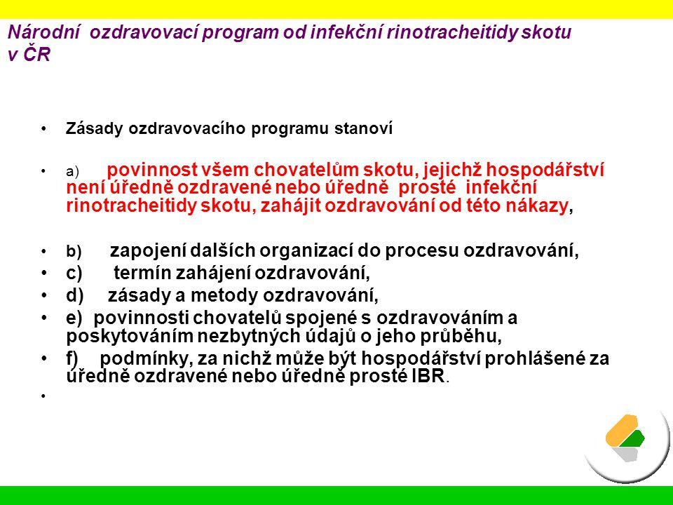 Národní ozdravovací program od infekční rinotracheitidy skotu v ČR