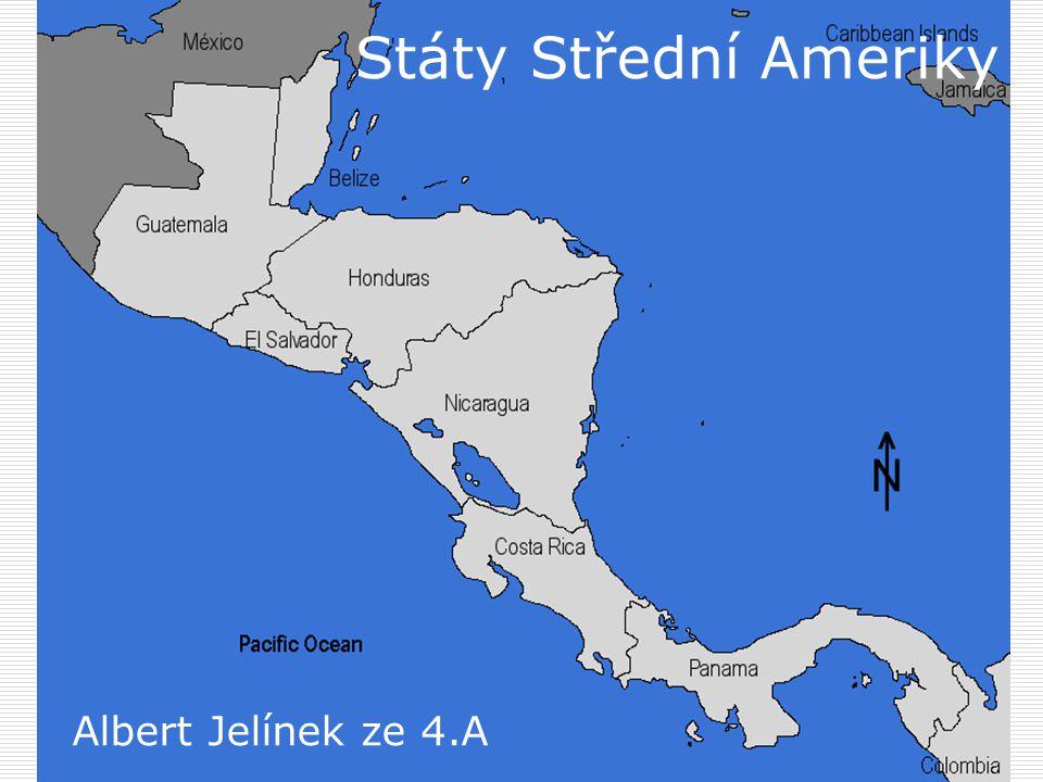 Státy Střední Ameriky Albert Jelínek ze 4.A