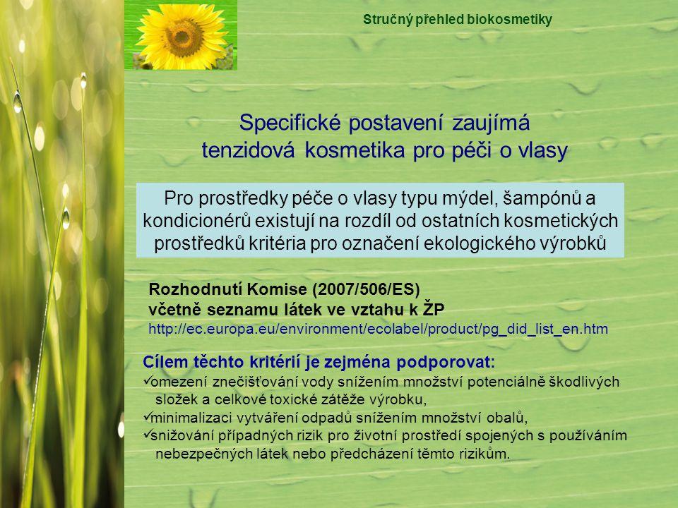 Stručný přehled biokosmetiky