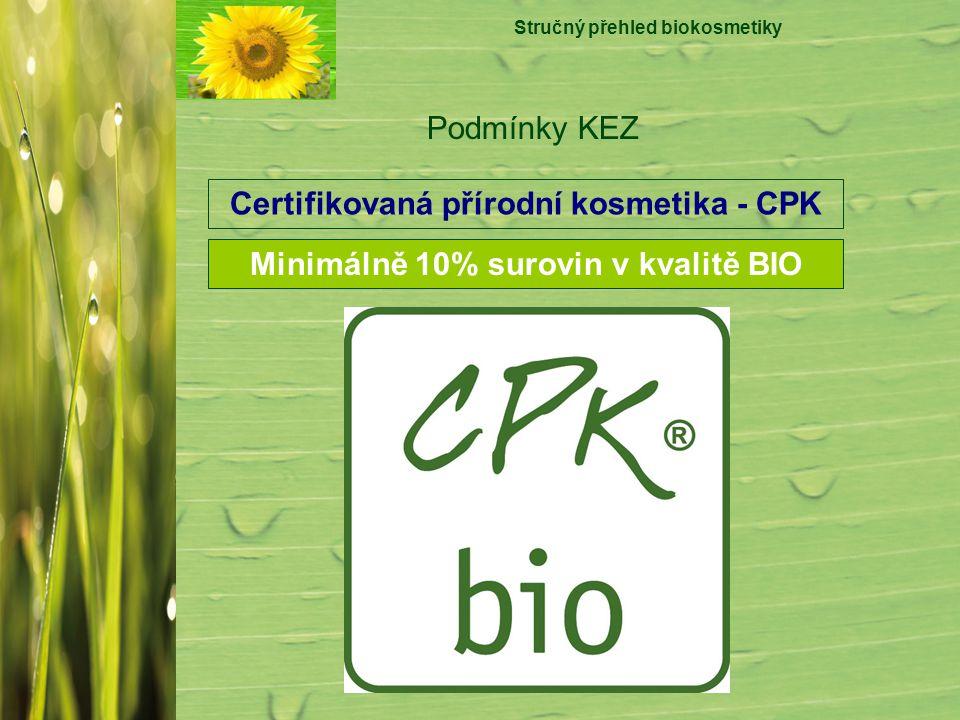 Certifikovaná přírodní kosmetika - CPK