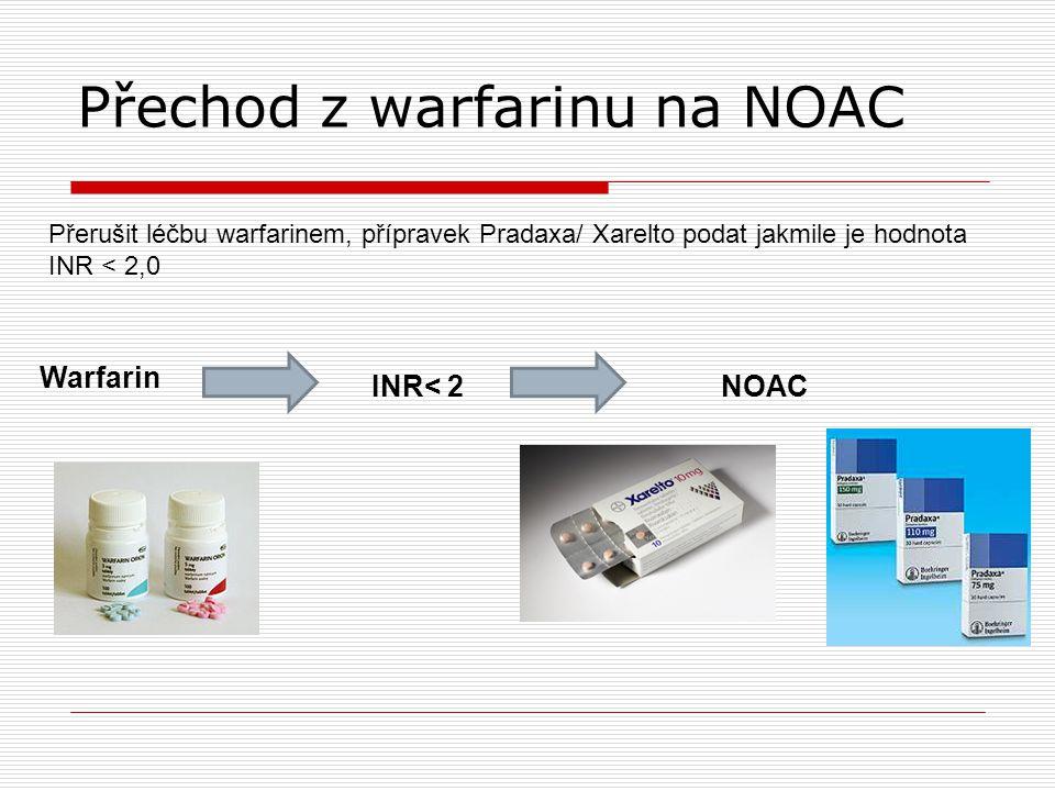 Přechod z warfarinu na NOAC