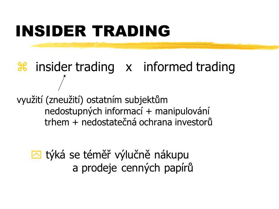 INSIDER TRADING insider trading x informed trading