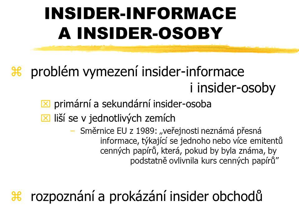 INSIDER-INFORMACE A INSIDER-OSOBY
