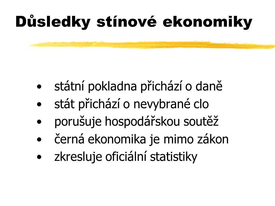 Důsledky stínové ekonomiky