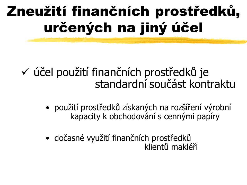 Zneužití finančních prostředků, určených na jiný účel