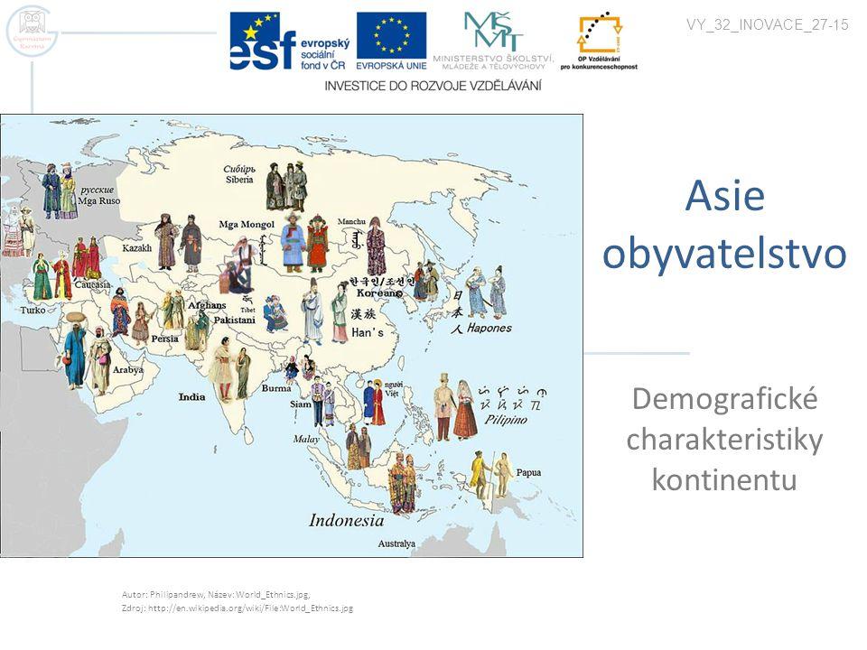 Demografické charakteristiky kontinentu