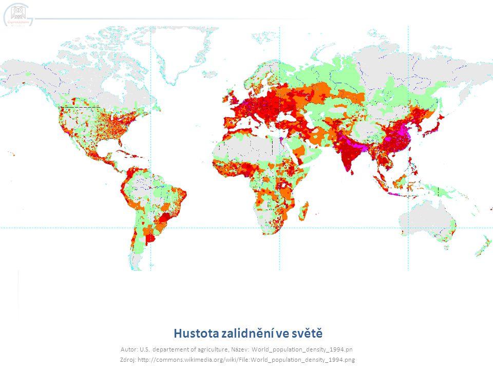 Hustota zalidnění ve světě