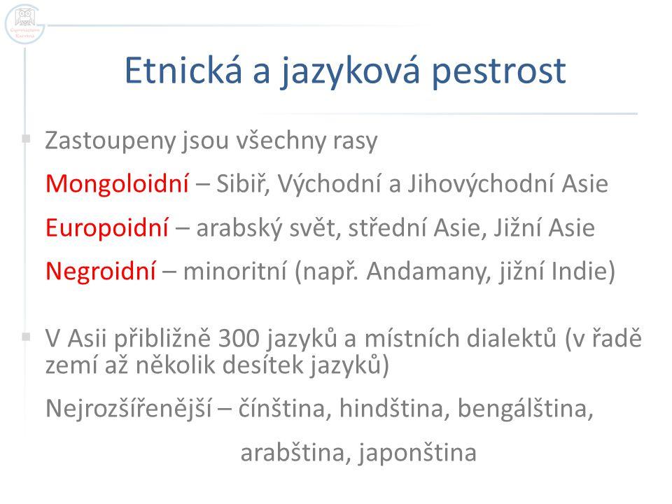 Etnická a jazyková pestrost