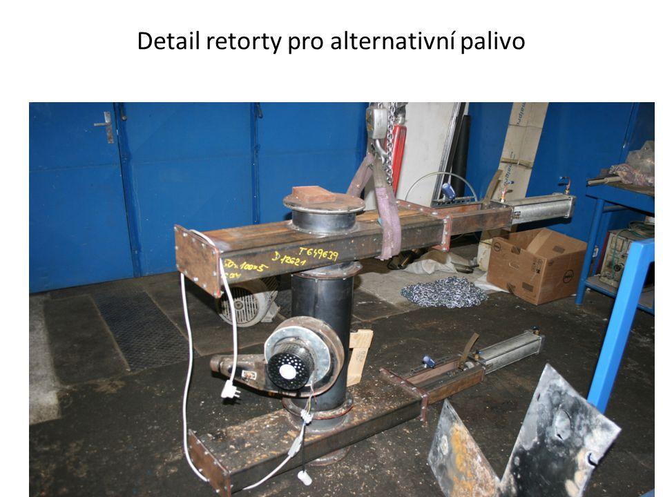 Detail retorty pro alternativní palivo