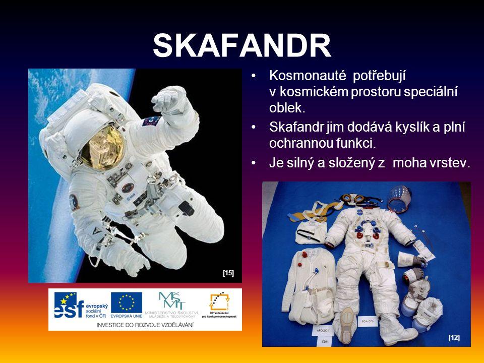 SKAFANDR Kosmonauté potřebují v kosmickém prostoru speciální oblek.