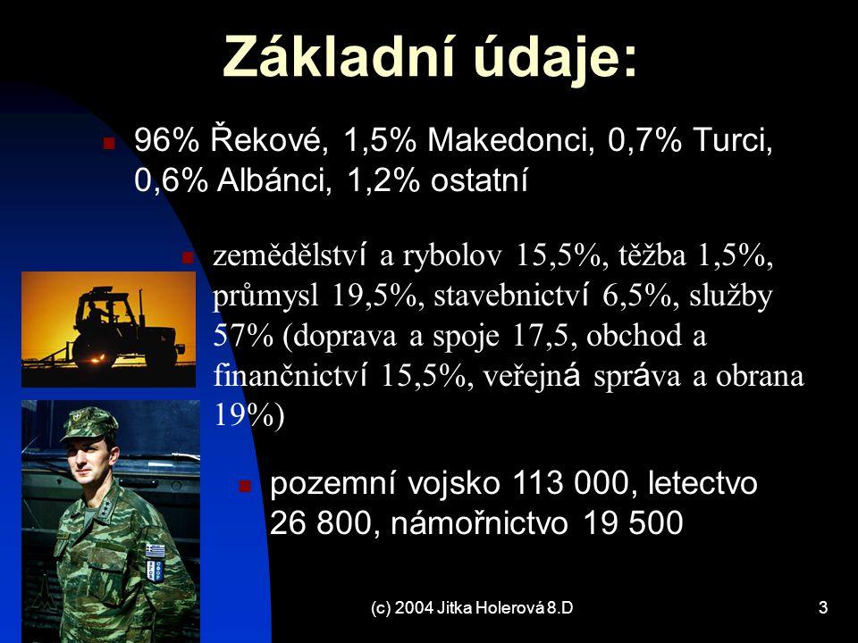 Základní údaje: 96% Řekové, 1,5% Makedonci, 0,7% Turci, 0,6% Albánci, 1,2% ostatní.