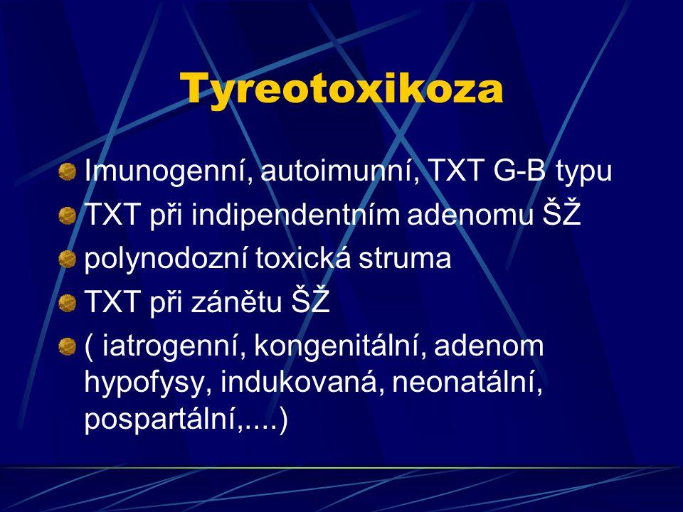 Tyreotoxikoza Imunogenní, autoimunní, TXT G-B typu