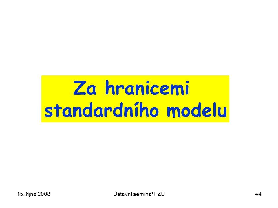Za hranicemi standardního modelu