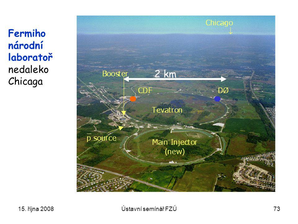 Fermiho národní laboratoř nedaleko Chicaga 2 km 15. října 2008