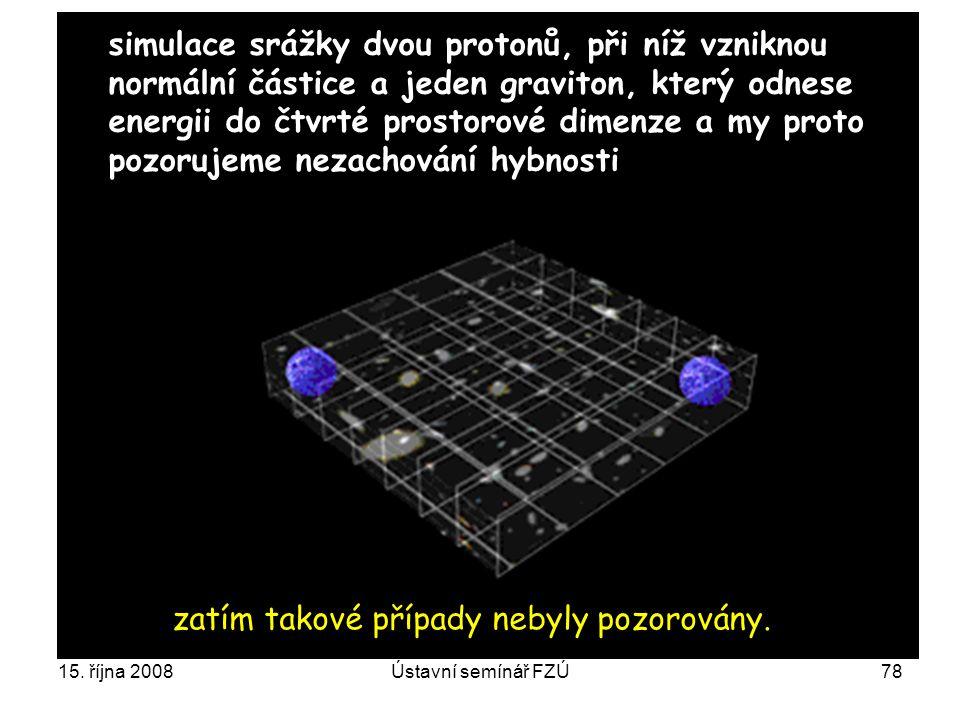 simulace srážky dvou protonů, při níž vzniknou