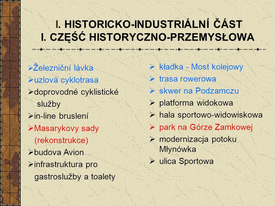 I. HISTORICKO-INDUSTRIÁLNÍ ČÁST I. CZĘŚĆ HISTORYCZNO-PRZEMYSŁOWA