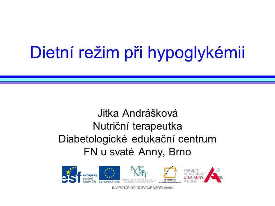 Dietní režim při hypoglykémii