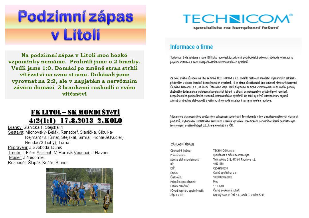 FK Litol – SK Mondi Štětí
