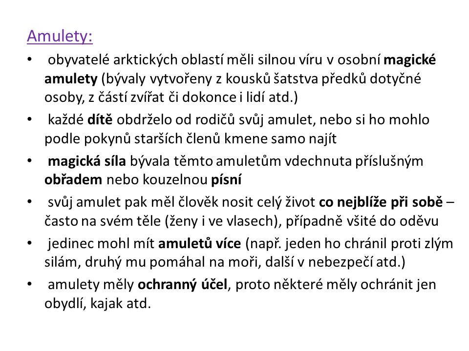 Amulety: