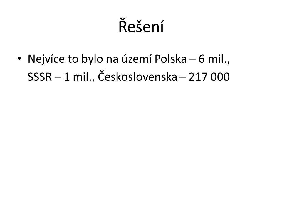 Řešení Nejvíce to bylo na území Polska – 6 mil.,