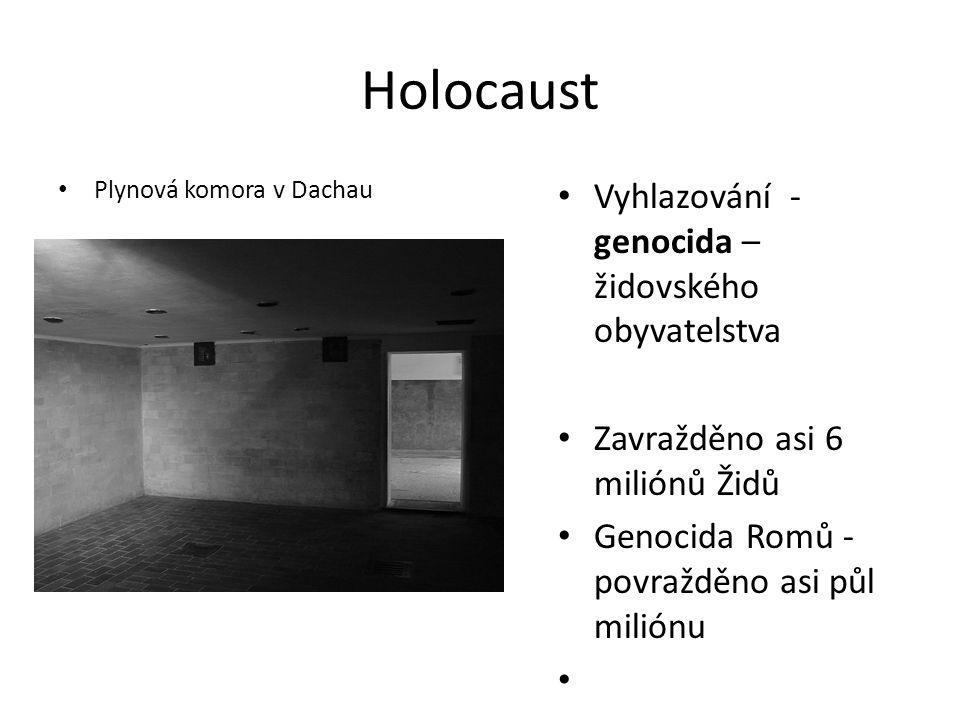 Holocaust Vyhlazování - genocida – židovského obyvatelstva