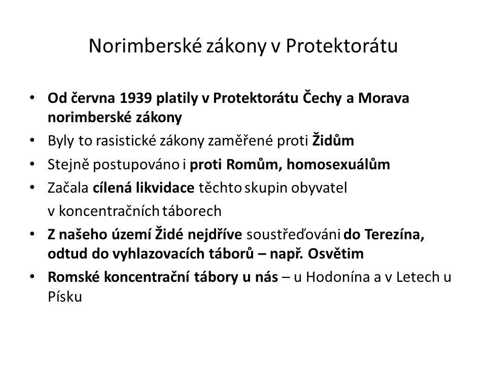 Norimberské zákony v Protektorátu