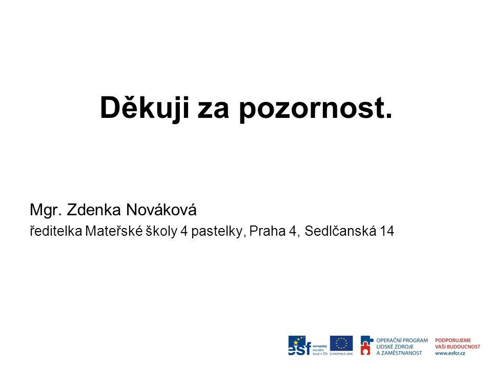 Děkuji za pozornost. Mgr. Zdenka Nováková