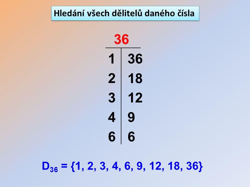 Hledání všech dělitelů daného čísla