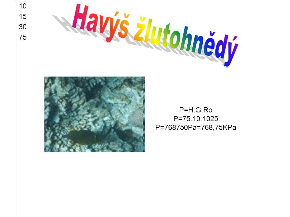 Havýš žlutohnědý 10 15 30 75 P=H.G.Ro P=75.10.1025