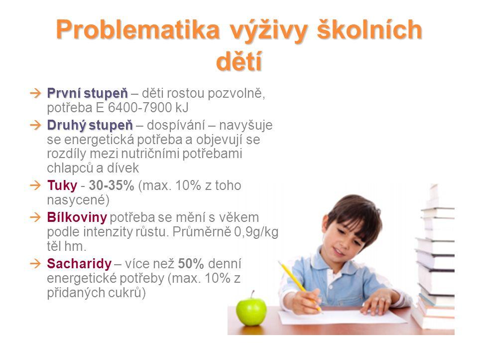 Problematika výživy školních dětí