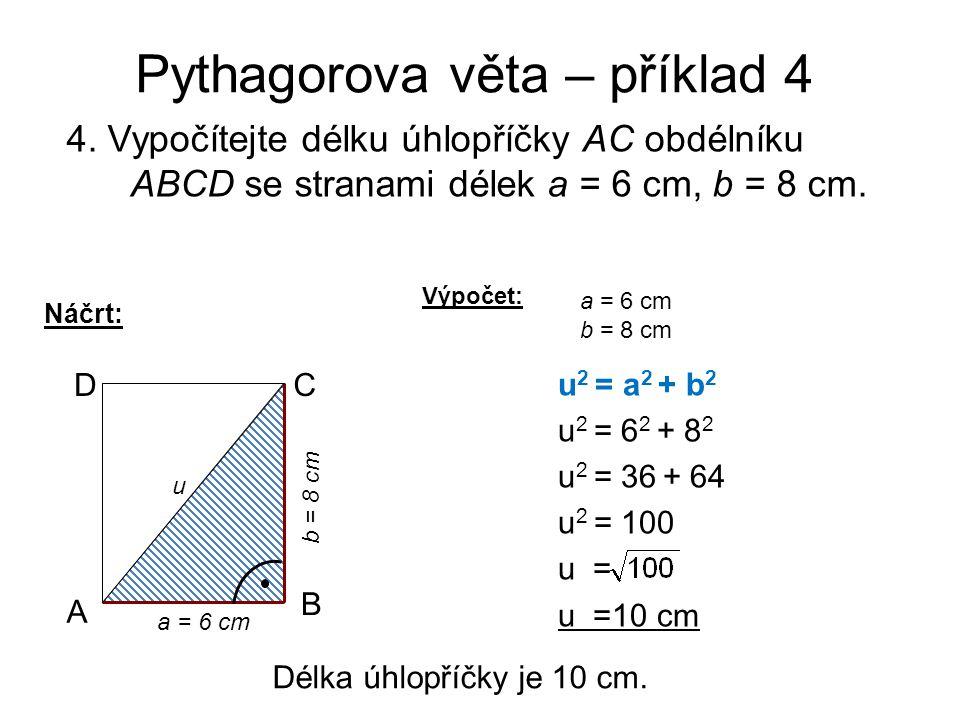 Pythagorova věta – příklad 4