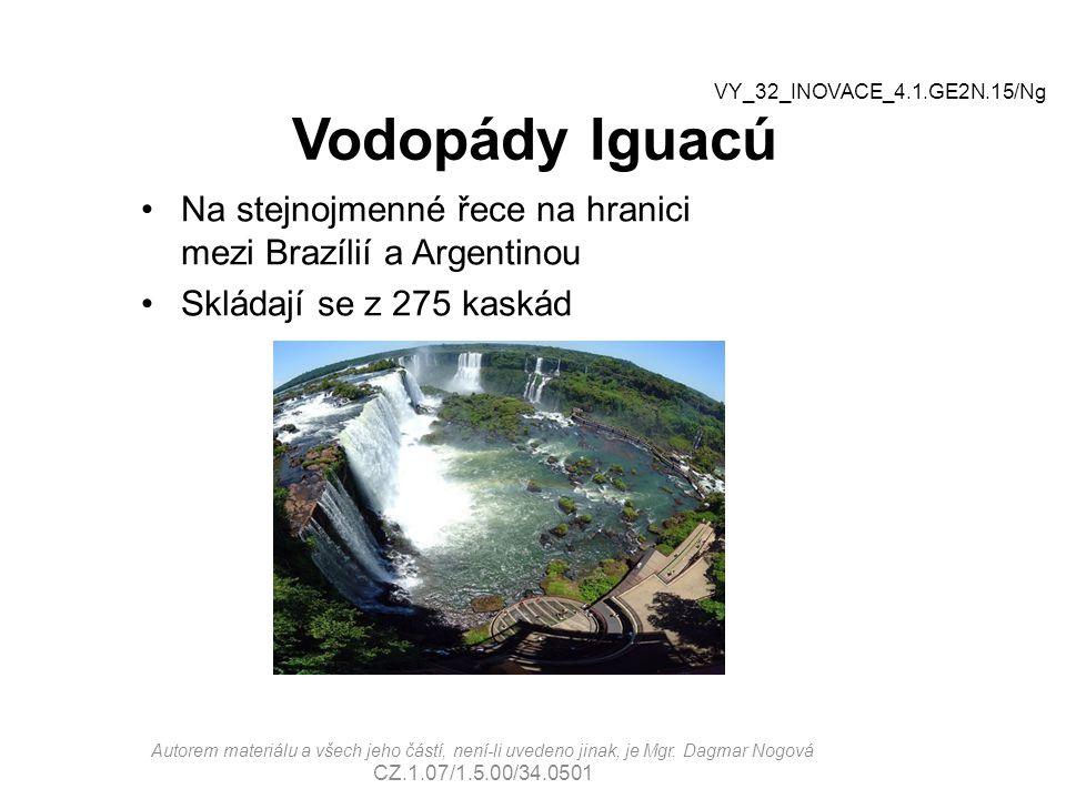 VY_32_INOVACE_4.1.GE2N.15/Ng Vodopády Iguacú. Na stejnojmenné řece na hranici mezi Brazílií a Argentinou.