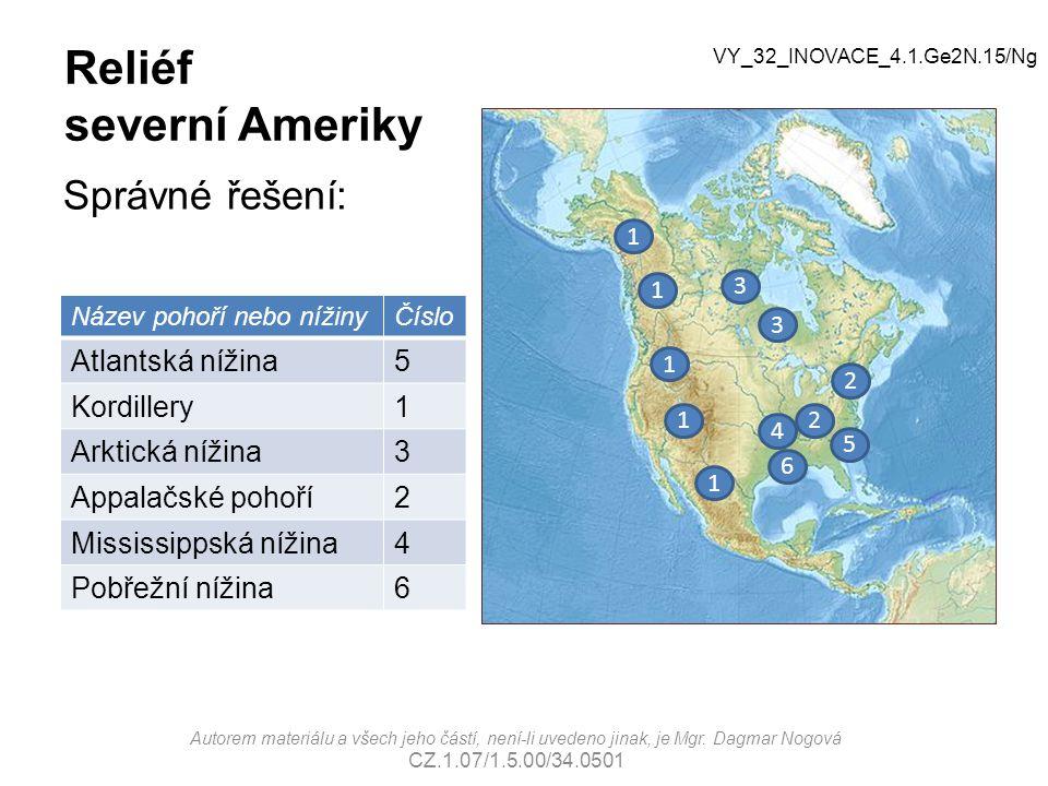 Reliéf severní Ameriky
