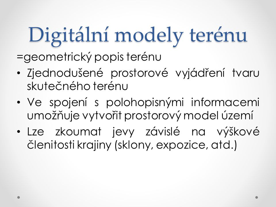 Digitální modely terénu