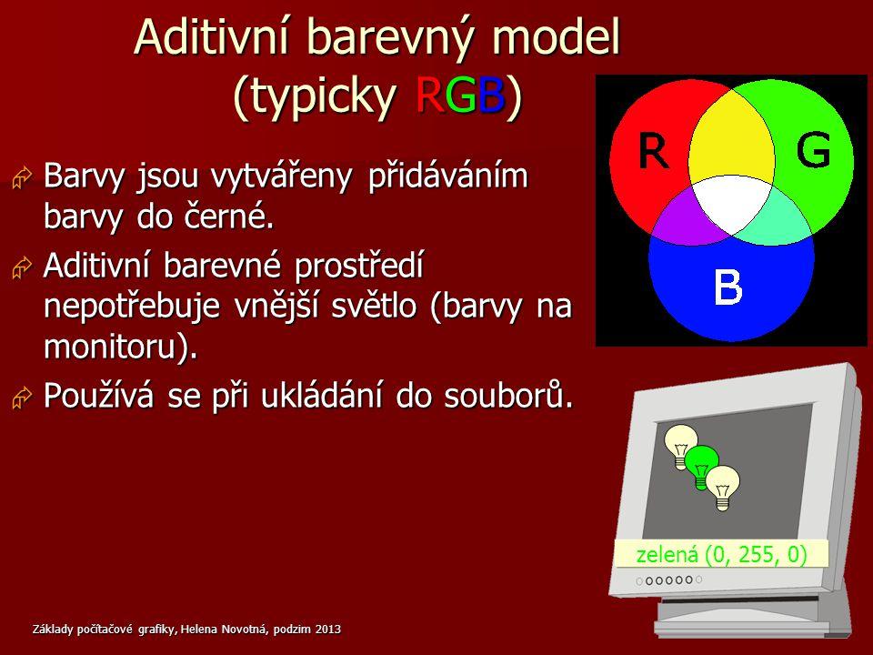 Aditivní barevný model (typicky RGB)